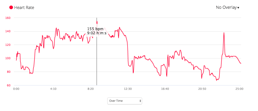 Cool heart rate graph export from the Garmin Connect application