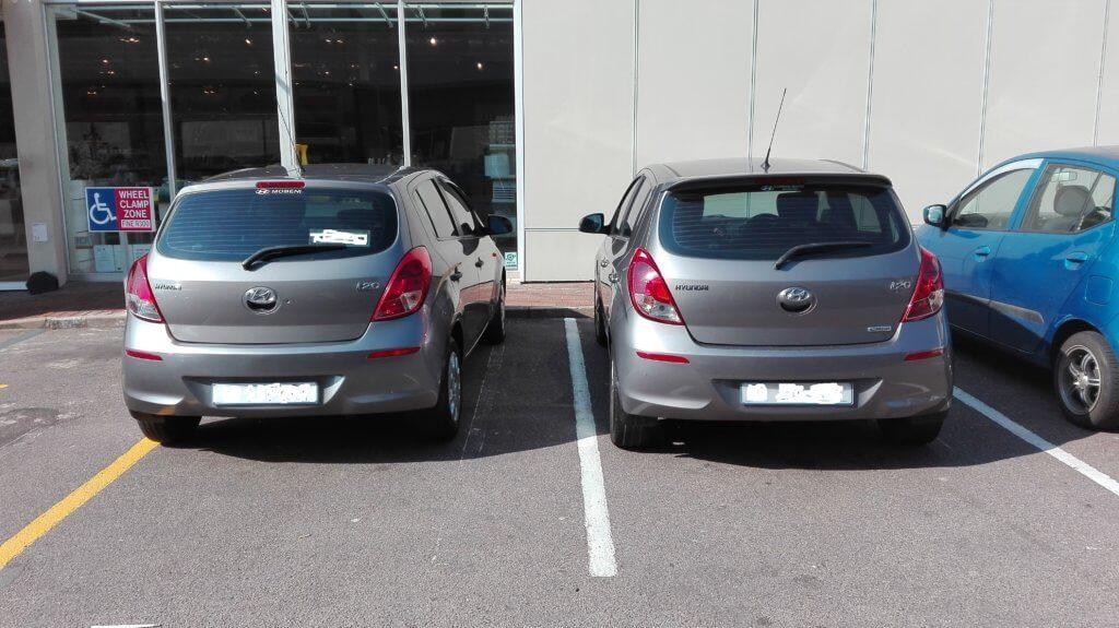 Two Hyundai i20 cars