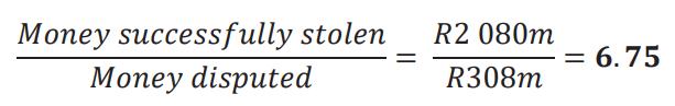 money successfully stolen