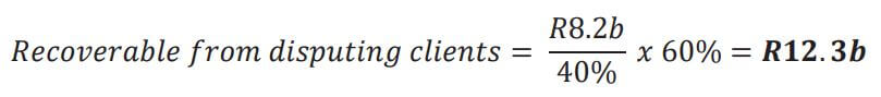 recoverable from disputing clients