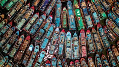 assorted fishing boats